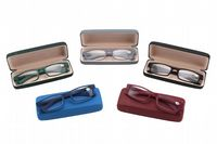 Rubber Reading Glasses in Rubber Case - Black
